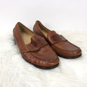 Cole Haan Cognac Leather Penny Loafer Flats